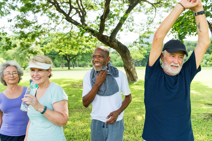 Senior Group Friends Exercise