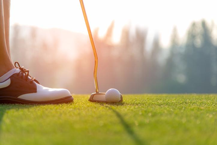 golf ball on the green golf